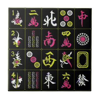 Mah Jongg Black/Fuchsia/Lime Tile
