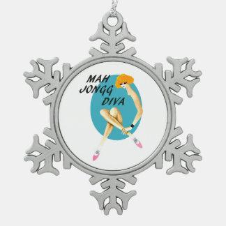 Mah Jongg Blue Diva Ornament