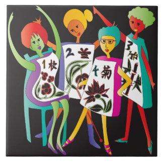 Mah Jongg Flower Dance Tiles