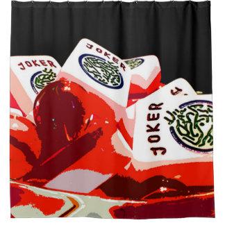 Mah Jongg Giant Joker Bowl Shower Curtain
