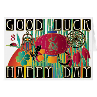 Mah Jongg Good Luck Happy Day Card