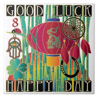 Mah Jongg Good Luck Happy Day Tile