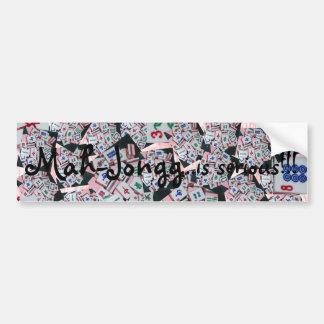 mah jongg is serious bumper sticker