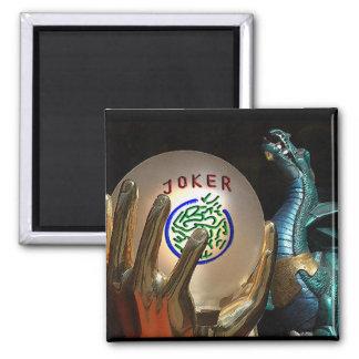 Mah Jongg Joker and Dragon Magnet