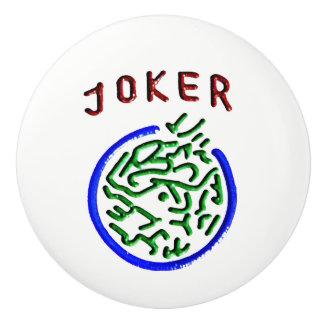 Mah Jongg Joker Ceramic Knob
