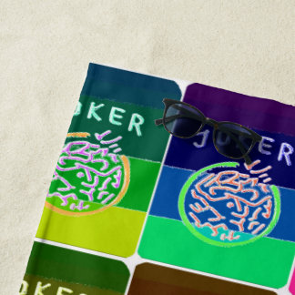 Mah Jongg Jokers Beach Towel