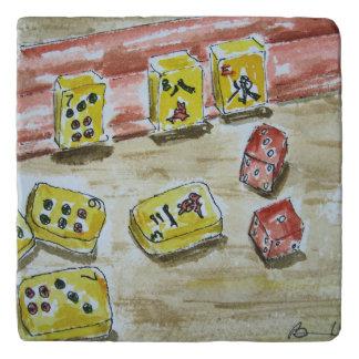 Mah Jongg (mahjong) Stone Trivet