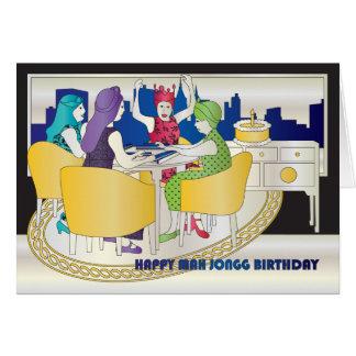 Mah Jongg New York Birthday Card