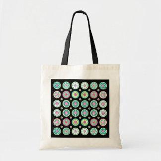 Mah Jongg One Dots Pink/Lime/Aqua Bag