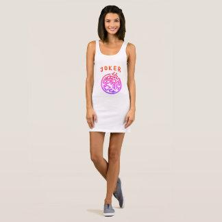 Mah Jongg Pink Joker Jersey Dress