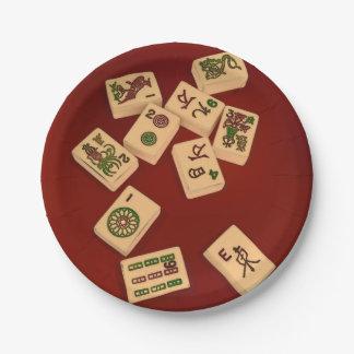 Mah Jongg Play Paper Plate