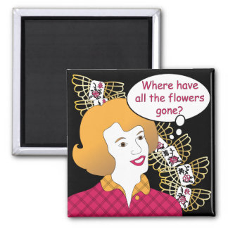 Mah Jongg Sayings Flowers Magnet