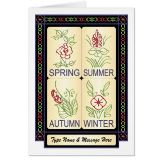 Mah Jongg Seasons 02 Customizable Card
