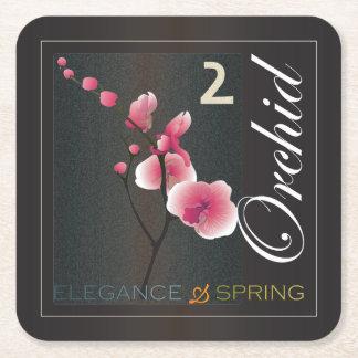 Mah Jongg Spring Square Paper Coaster
