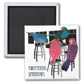 Mah Jongg Twittering Sparrows Magnet