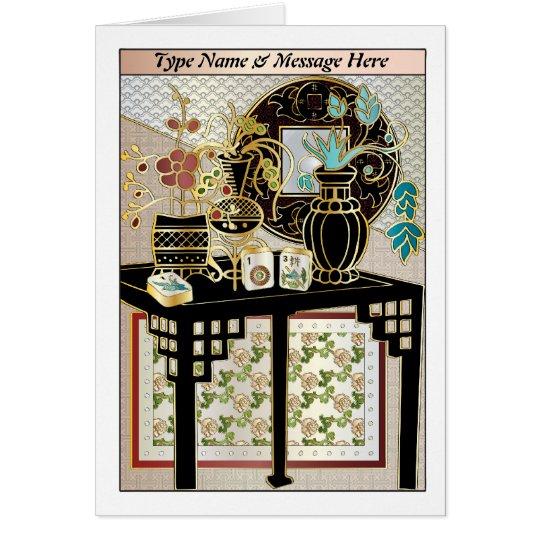 Mah Jongg Vases 01 Customizable Card