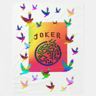 Mah Jongg White Joker Dreams Fleece Blanket