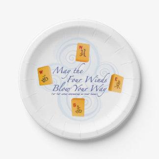 Mah Jongg Winds 7 Inch Paper Plate