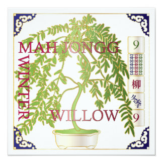 Mah Jongg Winter Willow Card