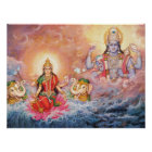 Maha Vishnu and Lakshmi Poster