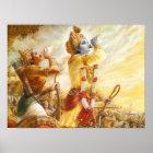 Mahabharat - Lord Krishna & Arjun Poster