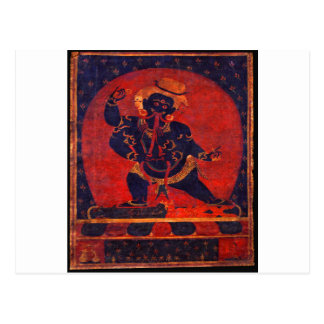 Mahakala, 12th century postcard