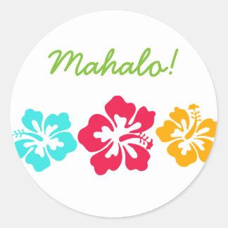 Mahalo Round Sticker