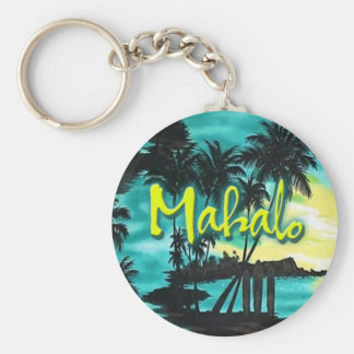 Mahalo Sunset Keychain