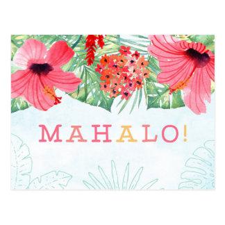 mahalo thank you card, mahalo card