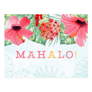 mahalo thank you card, mahalo card postcard