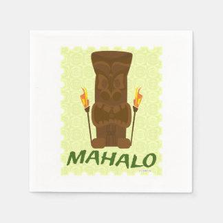 Mahalo Tiki God Disposable Napkins