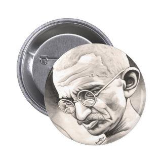 Mahatma Gandhi 2 Inch Round Button