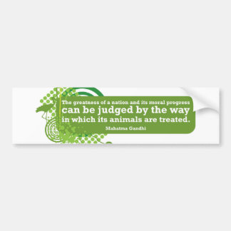 Mahatma Gandhi Quote Bumper Sticker