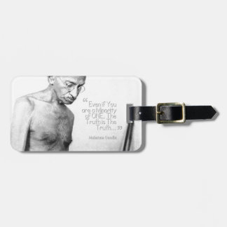 Mahatma Gandhi Quote, Minority of One, Truth Bag Tag