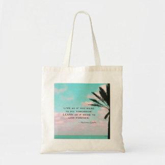 Mahatma Gandhi Quote, Tropical Beach,Inspirational