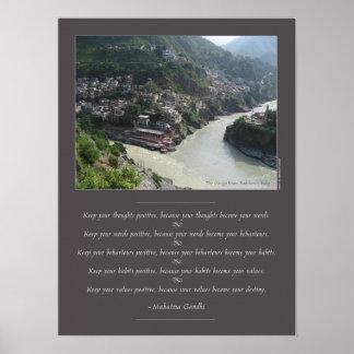 Mahatma Gandhi Wisdom Poster