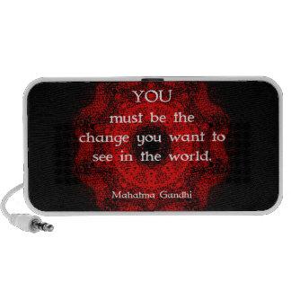 Mahatma Gandhi Wisdom Saying about action Laptop Speaker