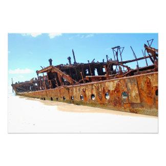 Maheno Shipwreck Photo Art