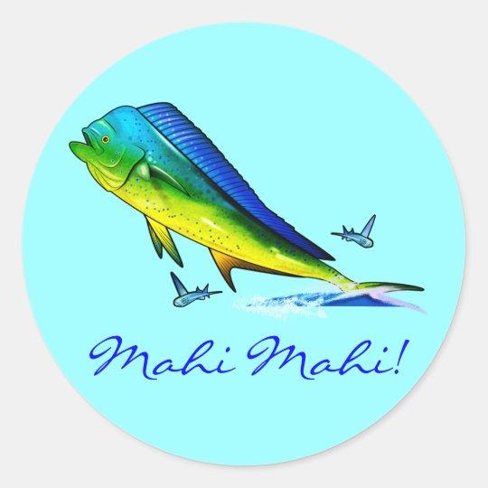 Mahi Mahi Classic Round Sticker