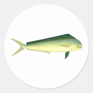 Mahi Mahi - Dolphin Fish Art Classic Round Sticker