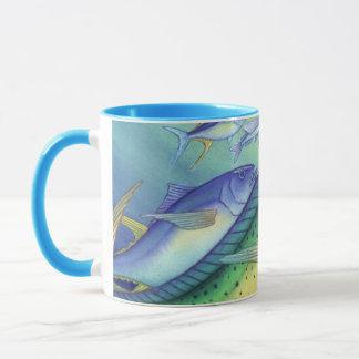 Mahi Mahi (Dolphin Fish) chasing Flying Fish Mug