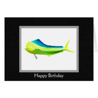 Mahi Mahi fish logo Card