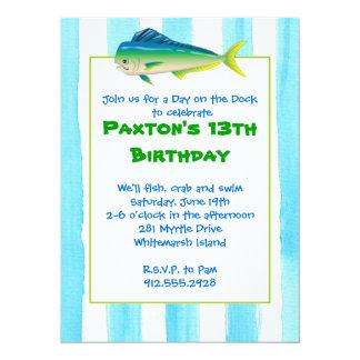 Mahi Mahi Party Invitation