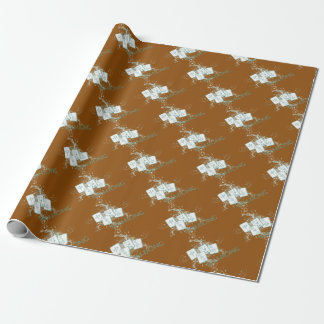 mahjong blue wrapping paper