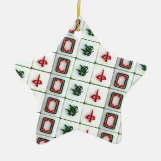 Mahjong Dragons Ceramic Ornament