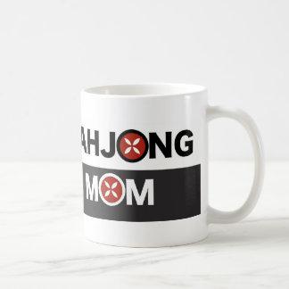 Mahjong Mom O Replaced with MJ Flower Design Coffee Mug