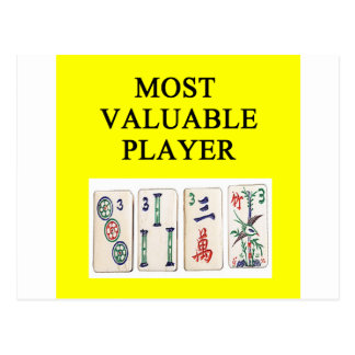 MAHJONG most valuable player Postcard