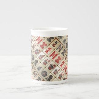 Mahjong pattern tea cup