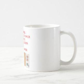 mahjong player design coffee mug