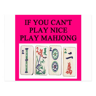 MAHJONG player Postcard